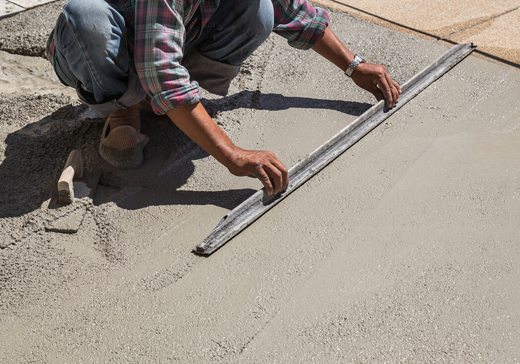 This is a picture of a concrete repair.
